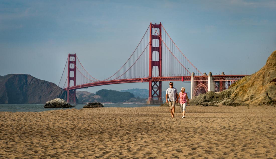 Baker Beach San Francisco Golden Gate Bridge-5
